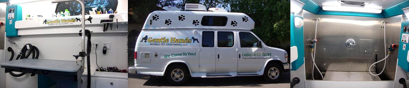Modern mobile cage free grooming van
